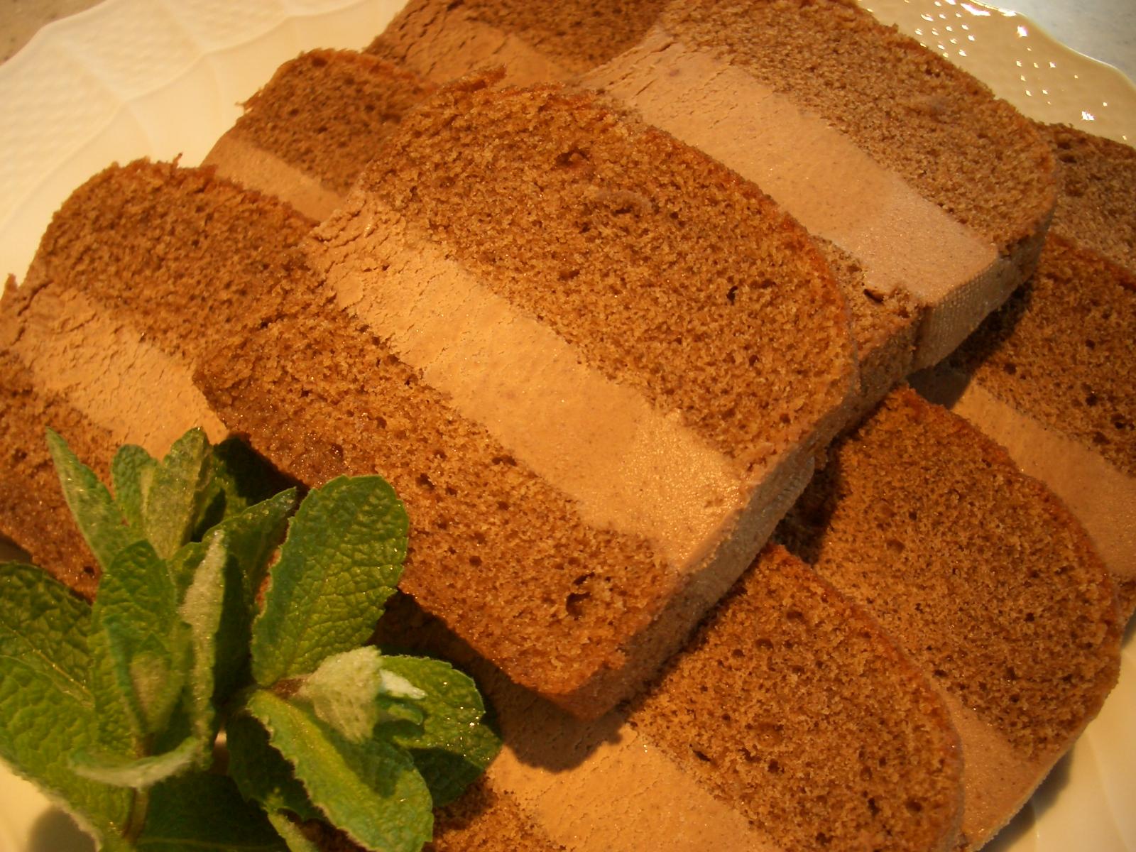 アールグレーガナッシュケーキ断面・要冷蔵